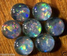 7 OPAL CABACHON TRIPLETS  FOR  RINGS OR PENDANTS  7 pcs. 4 mm 1.5carats