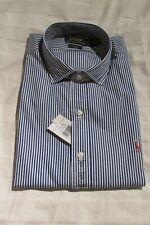 RALPH LAUREN POLO SLIM FIT SHIRT BLUE & WHITE SIZE XL NEW WITH TAGS RRP £95