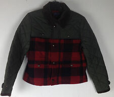 Polo Ralph Lauren Hunting Plaid Jacket Boys Large 12 14 Wool Red Brown