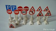 LEGO Legoland Lot de 14 Panneaux de circulation