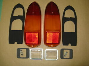 MG Tail Lamp Stop Light  Lens + Backup Lens pairs for MGB MGBGT Midget 1970-1980