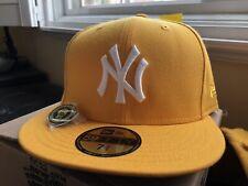 Hat Club Exclusive New York Yankees New Era 5950 Yellow Taxi 2000 7 3/4 lemonade