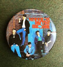 True Vintage 1989 NKOTB New Kids on the Block Group Pin 1.5 Inches New NOS