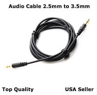 2.5mm - 3.5mm  Audio Cable Cord  Aux for Bose QuietComfort QC 35 Series I II 5FT