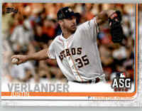 (15) 2019 Topps Update JUSTIN VERLANDER 15-Card Base Lot Astros All-Star US96