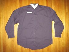 Big & Tall Men's Port Authority Purple Oxford Long Sleeve Shirt Size 3XL New