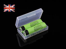2x Panasonic 18650 3400mAh Rechargeable Genuine Battery NCR18650B Li-ion + case