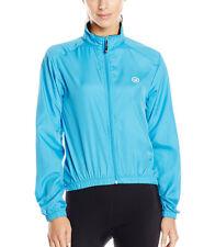 Canari Cyclewear Cycling Bike Microlight Zip Front Shell Jacket Blue Women's XL