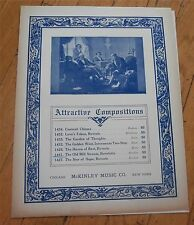 The Old Mill Stream (Novelette) by Victor Moulton  Sheet Music 1908