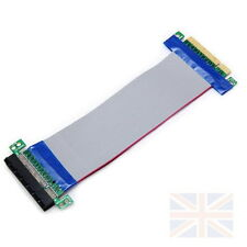 New 8X To 8X PCI-E Extension Flex Cable PCI Riser Card Adapter - UK seller