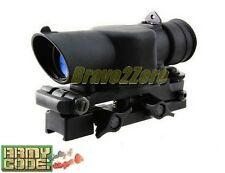 SUSAT 4x Optical Sight Scope w/ Red Illuminated Reticle for Airsoft L85A1 L85A2