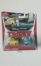 CARS Disney pixar cars 2014 LUIGI & GUIDO 3-4/15 rare mattel 1/55 maclama