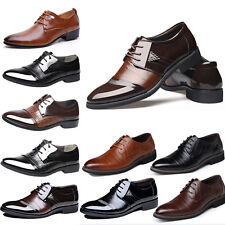 Men's Oxfords Leather Shoes Casual Pointy Business Fashion Wedding Formal Dress