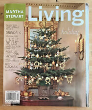 Martha Stewart Living 2001 Christmas Red Damask Tabletop Trees Bells Garlands