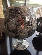 Small Mirror Mosaic Glass Goblet Vase Candle Holder Candle Table Display