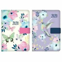 2020 A6 Day to Page Diary Index Floral Organiser Appointment (Hummingbird)