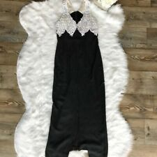 Scott McClintock -Size 10P- Women's Black White Sleeveless Party Cocktail Dress