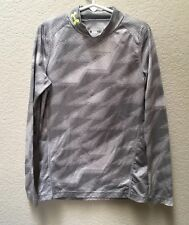 Under Armour Coldgear Shirt Long Sleeve Mock Turtleneck Boys Youth Small