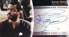 Star Trek Insurrection Levar Burton / Geordi La Forge A5 Auto Card