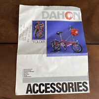 Vintage Dahon Accessories Brochure Bicycle Spec Card Sheet Manual