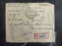 1921 Moscow RUSSIA USSR Censored Cover To Berlin Germany Imperforate Stamps