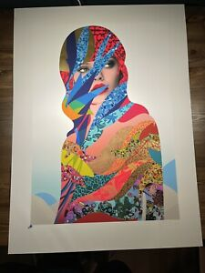 Miss Bugs Augmented Past Art Print Poster Signed XX/50 Large Format Screen Print