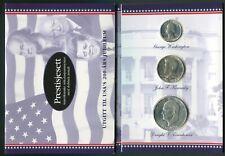 USA Bicentennial Set 1976 S 1/4$ 1/2$ & 1$ Silver BU Matte in Special Folder