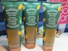 Bath and Body Works 3 Nourishing Apple Extract Body Wash