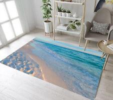Blue Sea Sunny Sand Beach Scenic Area Rugs Bedroom Carpet Living Room Floor Mat