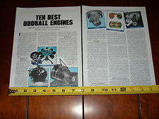 ODDBALL ENGINES BRICKLIN STERLING SMOKEY VAPOR RAND CAM - ORIGINAL 1994 ARTICLE