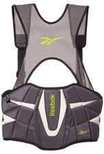 New Reebok Size Small ZG3 Black/Lime Lacrosse 3K Rib Chest Pad