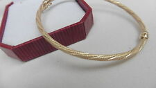 NEW 9kt 9ct yellow gold bangle design curly twist rope
