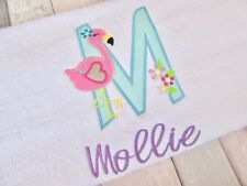 💓personalised Flamingo towel, unicorn towels, childrens towel, bath