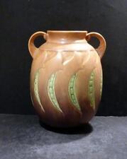 """Roseville Falline Tan Vase, 647-7"""" - MINT"""