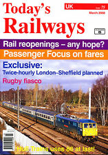TODAY'S RAILWAYS UK 75 MAR 2008 East Midland Trains,Class 87,Eurostar Class 37/6