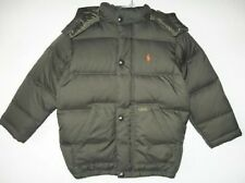 Ralph Lauren Boys Dark Olive Down Puffy Jacket (5) NWOT