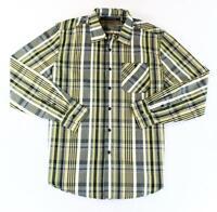 SEAN JOHN Men's GREEN YELLOW PLAID Button Down Long Sleeves SHIRT L NWT