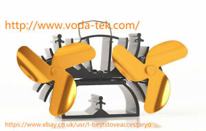 VODA 12.5cm Height Twin Motors Heat Powered Stove Fan Specially for Small Space