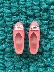 Vintage Barbie MOD Francie VHTF Pink PILGRIM SHOES w SILVER BUCKLES Go Granny Go