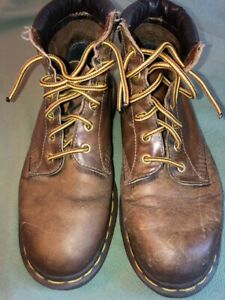 Dr. Martens Men's Size US 9 - 939 Brown Leather 6 eye Boots Made in England