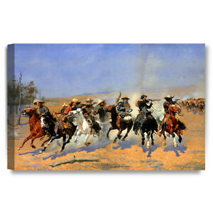 DecorArts A Dash for the Timber Frederic Remington Classic Art Reproductions.