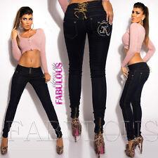 New Women's Jeans Size 10 12 14 2 4 6 8 XS S M L XL Skinny Leg Stretch Denim