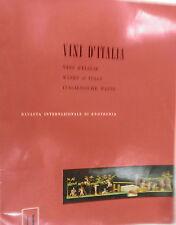 VINI D ITALIA 1961 Stabilizzazione dei vini acetoinica filtrati dolci Enologia