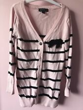 Girl Kids Children Pumpkin patch pink stripe Knitwear Knit Cardigan jacket