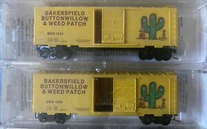 n scale MTL special run bakersfield buttonwillow & weedpatch BBW box cars Runner