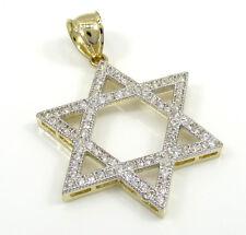2.50Gr L Mens Ladies 10k Yellow Real Gold Star of David Jewish Charm Pendant