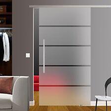 SlimLine Glasschiebetür Glas Schiebe Tür mit Soft Stop oder SoftClose opt. BP1