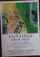 Raoul DUFY  Affiche poster lithographie paintings from Nice Mourlot 1966 *