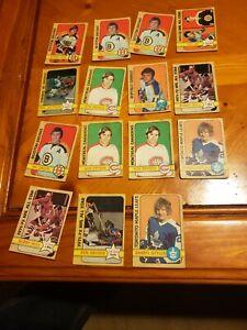 Lot of 15 1972 73 OPC HOCKEY CARDS. STARS ORR HULL ESPO DRYDEN SITTLER perrault