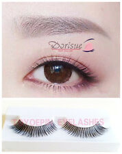 X5 5 Pairs Lengthening Long Fake Eye Lashes wispy angled lash Natural Clear root
